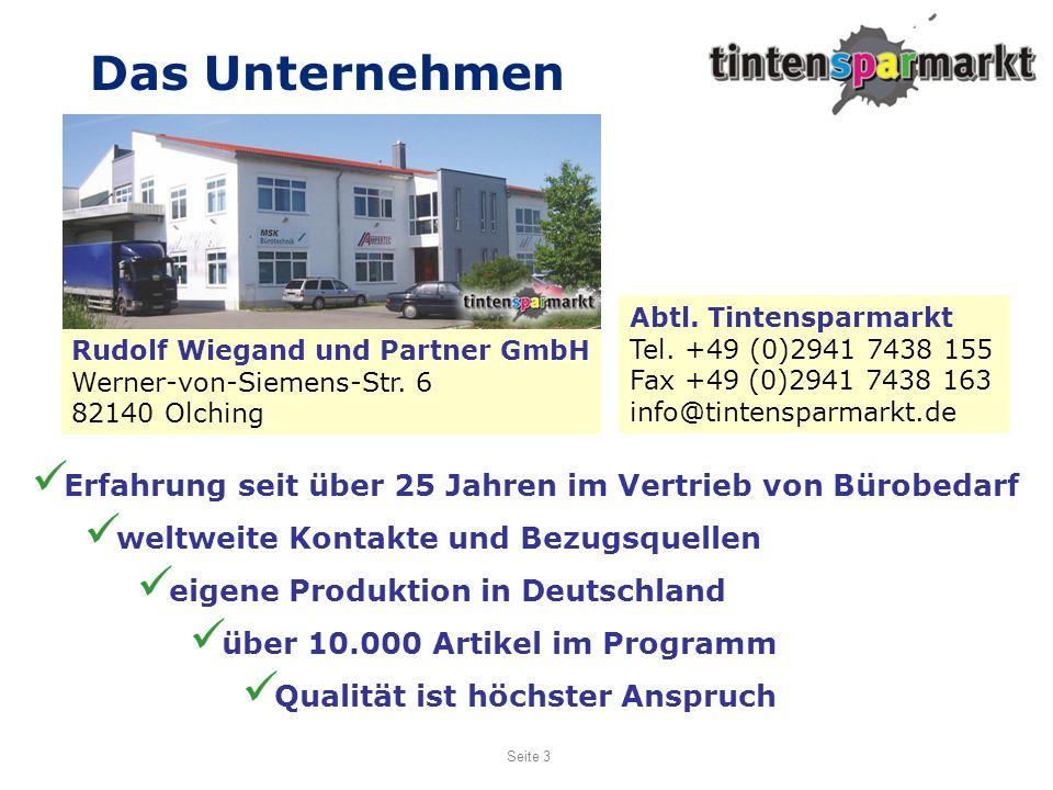 Das Unternehmen Abtl. Tintensparmarkt. Tel. +49 (0)2941 7438 155. Fax +49 (0)2941 7438 163. info@tintensparmarkt.de.