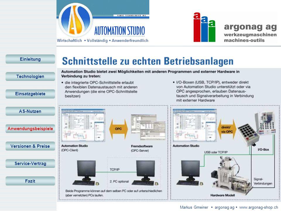Einleitung Technologien. Einsatzgebiete. AS-Nutzen. Anwendungsbeispiele. Versionen & Preise. Service-Vertrag.