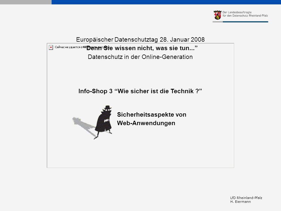 Europäischer Datenschutztag 28. Januar 2008
