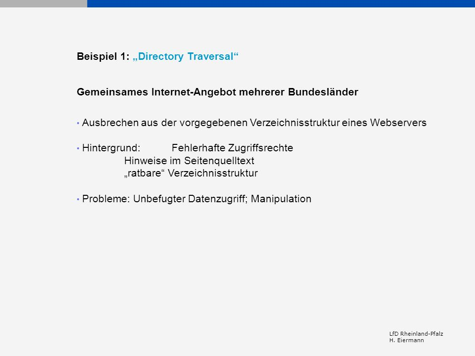 """Beispiel 1: """"Directory Traversal"""