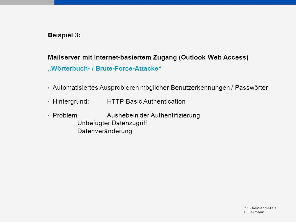 Mailserver mit Internet-basiertem Zugang (Outlook Web Access)