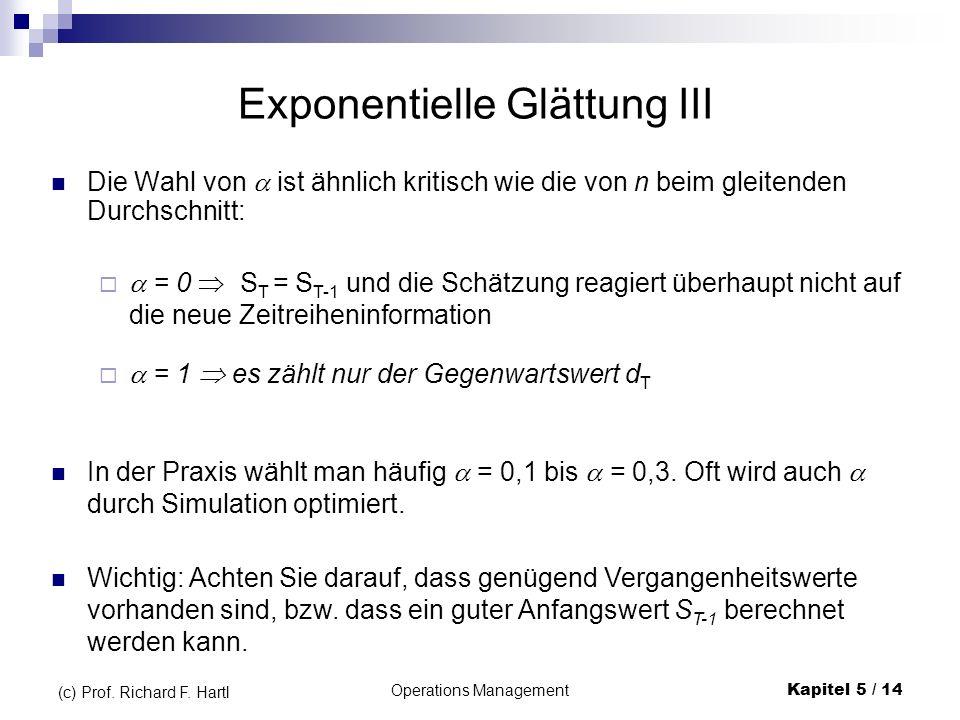 Exponentielle Glättung III