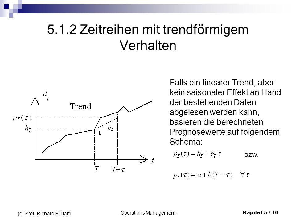 5.1.2 Zeitreihen mit trendförmigem Verhalten