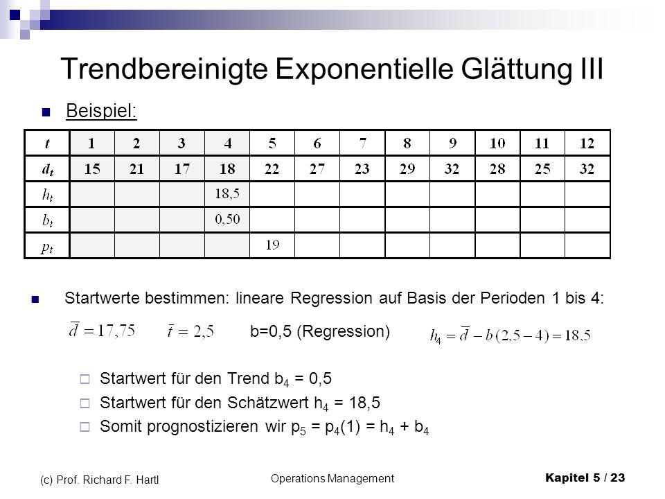 Trendbereinigte Exponentielle Glättung III