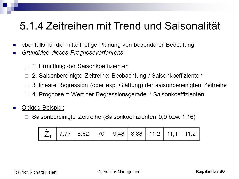 5.1.4 Zeitreihen mit Trend und Saisonalität