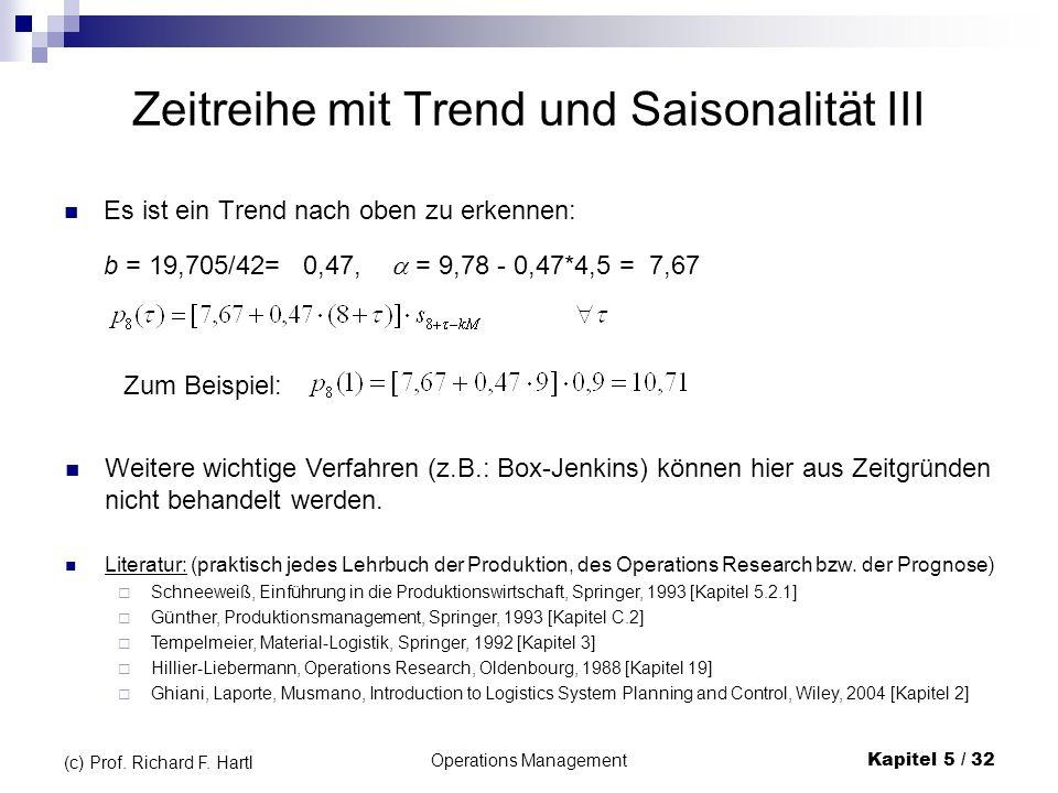 Zeitreihe mit Trend und Saisonalität III