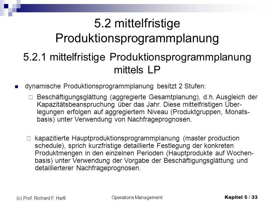 5.2 mittelfristige Produktionsprogrammplanung