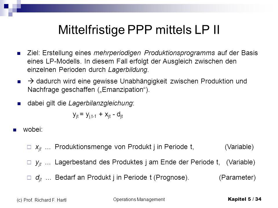 Mittelfristige PPP mittels LP II