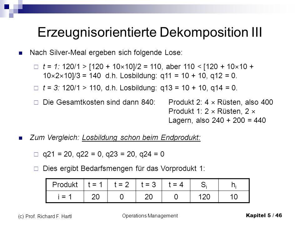 Erzeugnisorientierte Dekomposition III