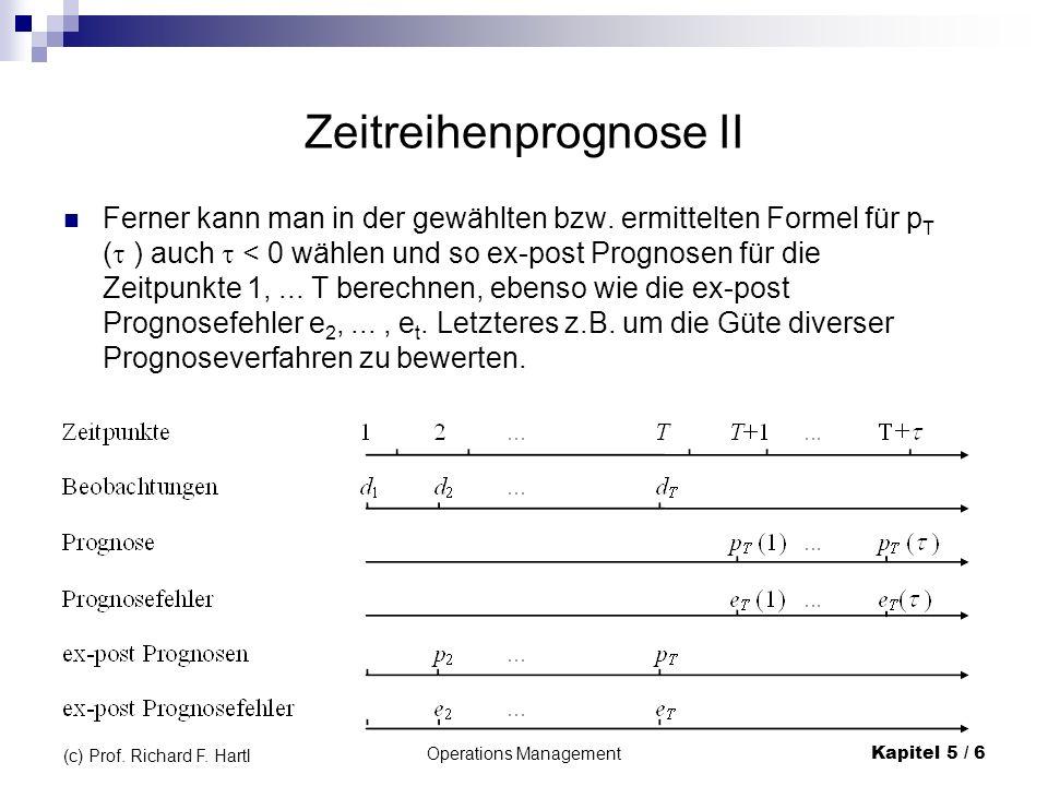 Zeitreihenprognose II