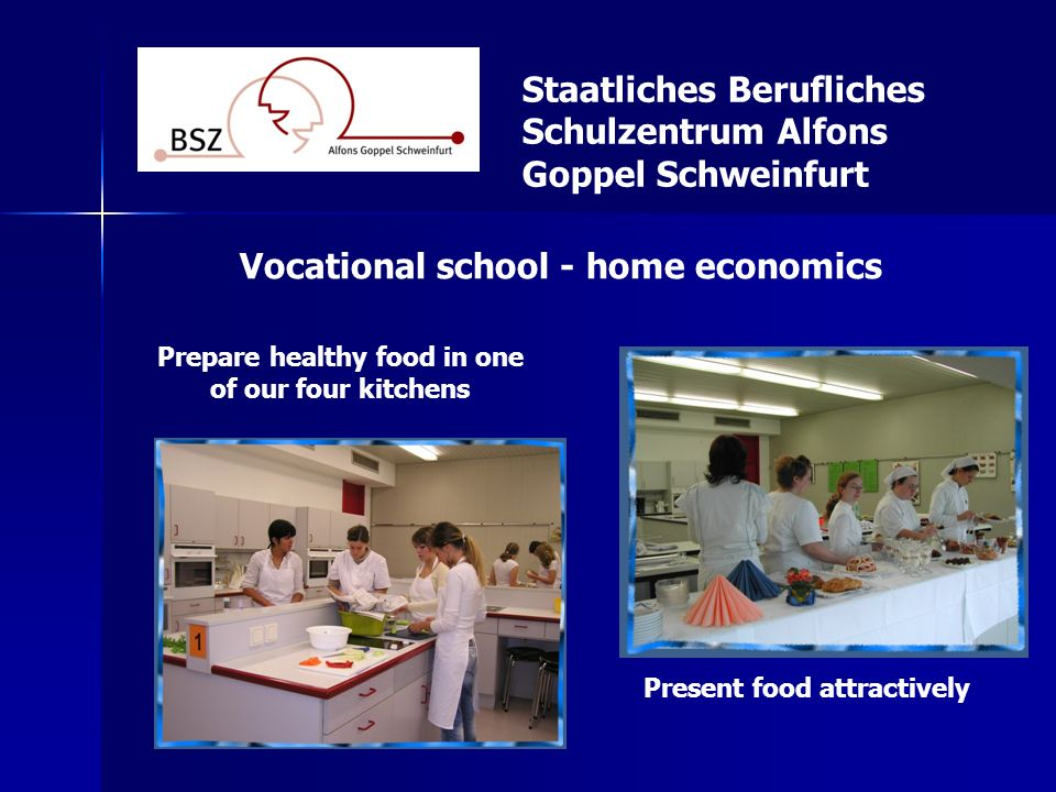 Vocational school - home economics