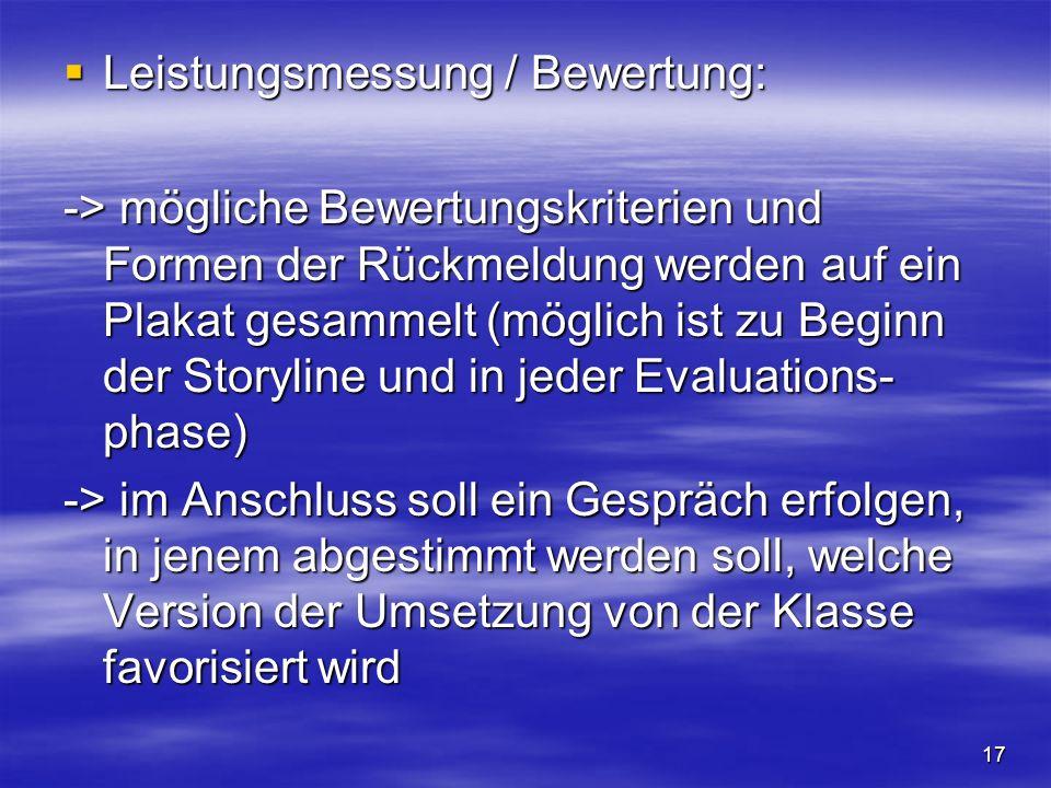 Leistungsmessung / Bewertung: