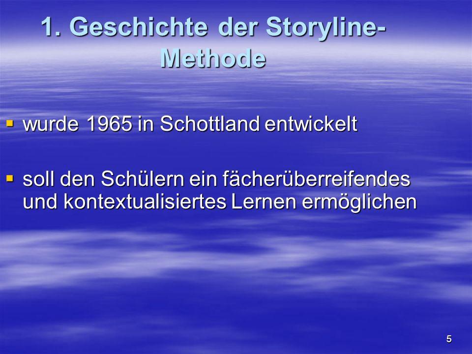 1. Geschichte der Storyline- Methode