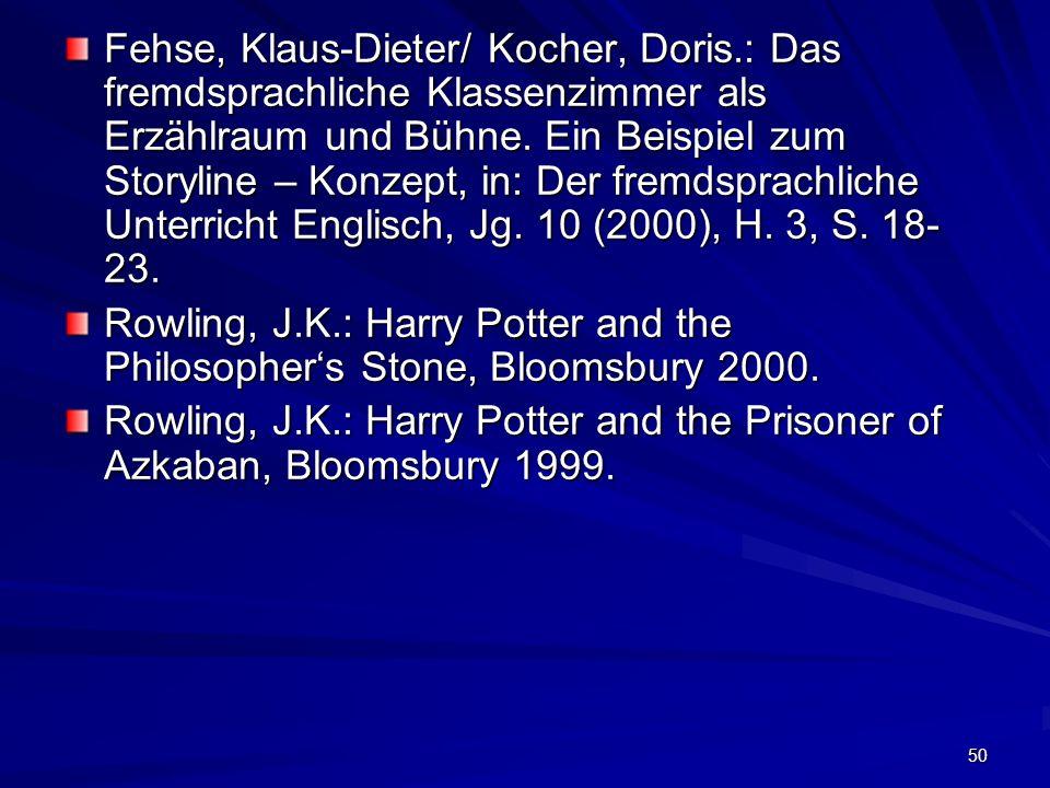 Fehse, Klaus-Dieter/ Kocher, Doris