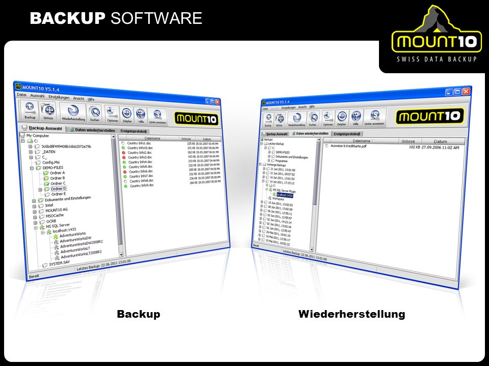 BACKUP SOFTWARE Wiederherstellung Backup 2
