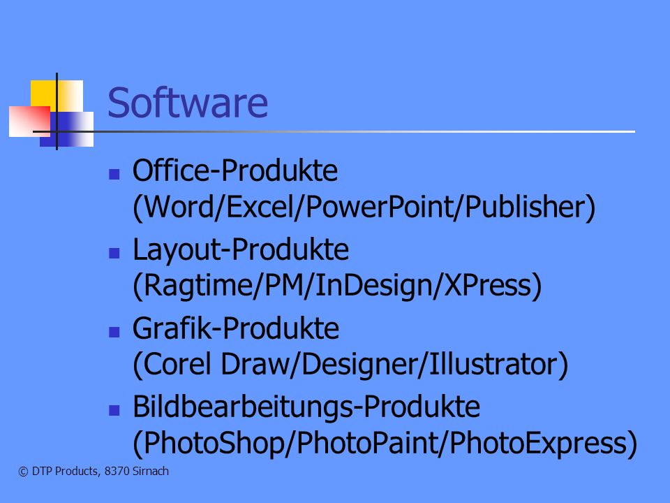 Software Office-Produkte (Word/Excel/PowerPoint/Publisher)