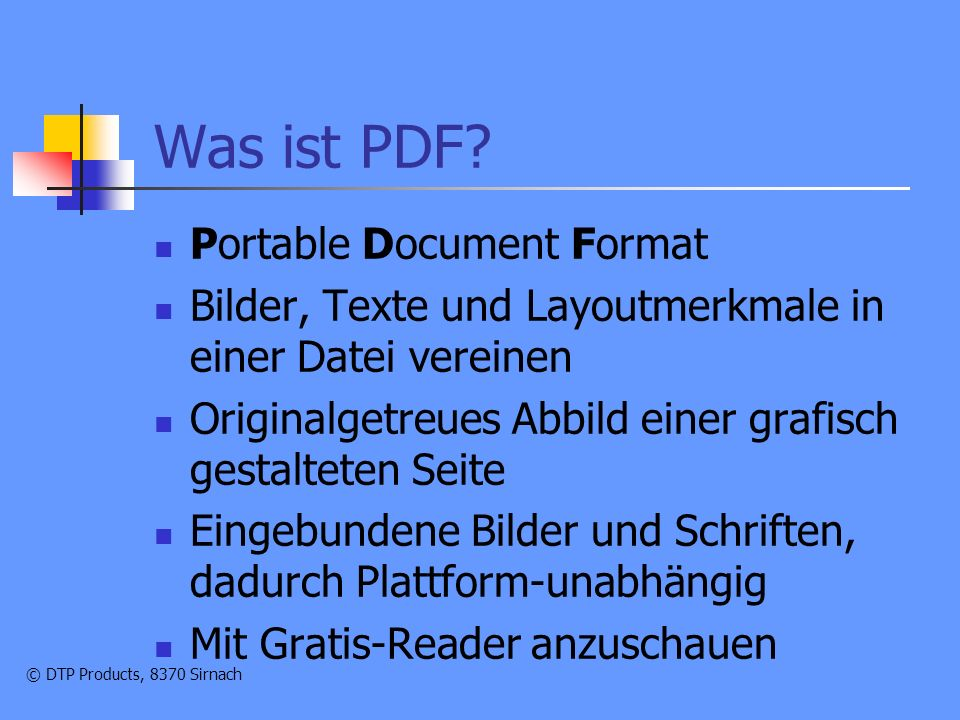 Was ist PDF Portable Document Format