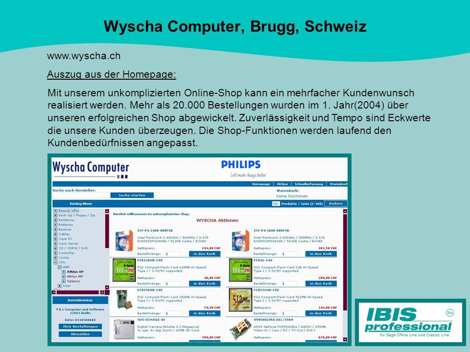Wyscha Computer, Brugg, Schweiz