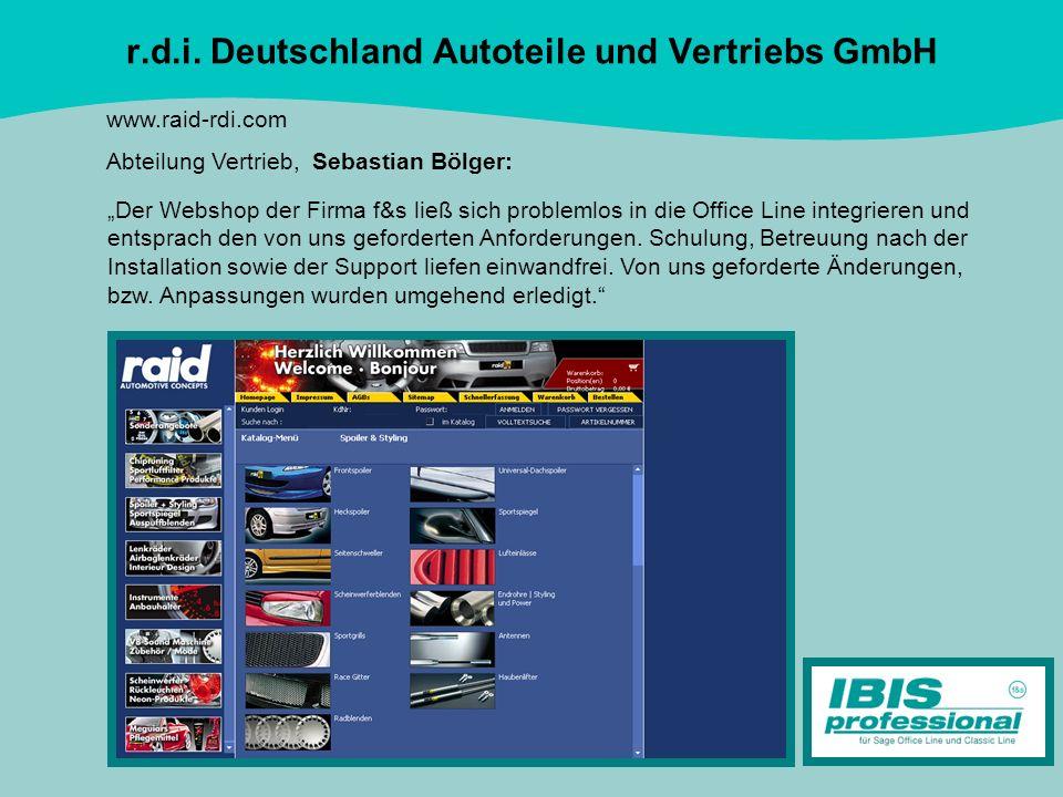 r.d.i. Deutschland Autoteile und Vertriebs GmbH