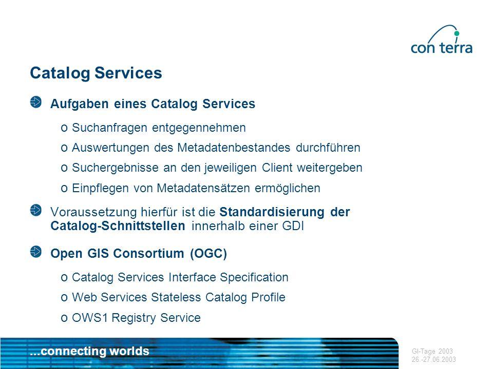Catalog Services Aufgaben eines Catalog Services