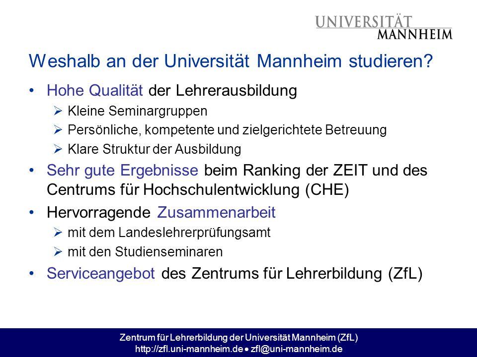 Weshalb an der Universität Mannheim studieren