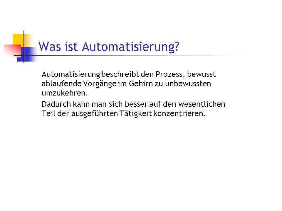 Was ist Automatisierung