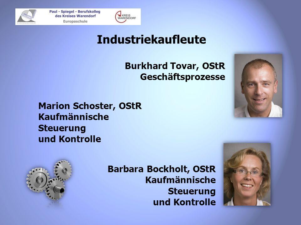 Industriekaufleute Burkhard Tovar, OStR Geschäftsprozesse