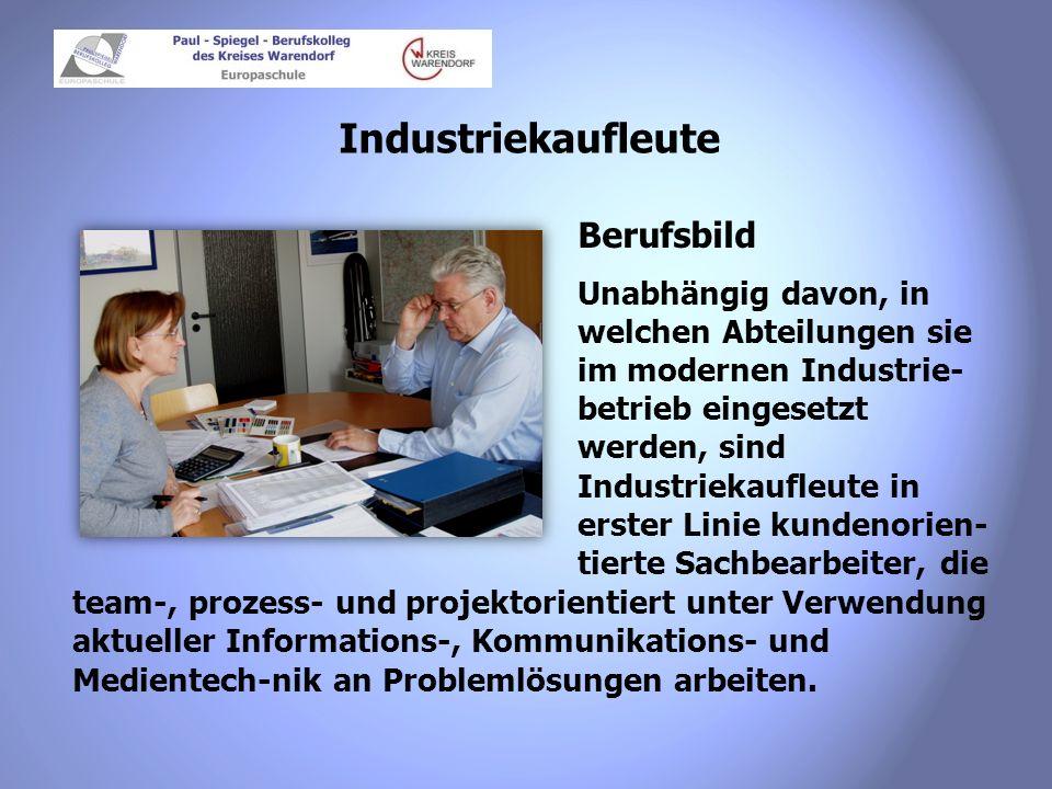 Industriekaufleute Berufsbild