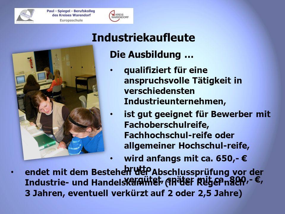 Industriekaufleute Die Ausbildung …