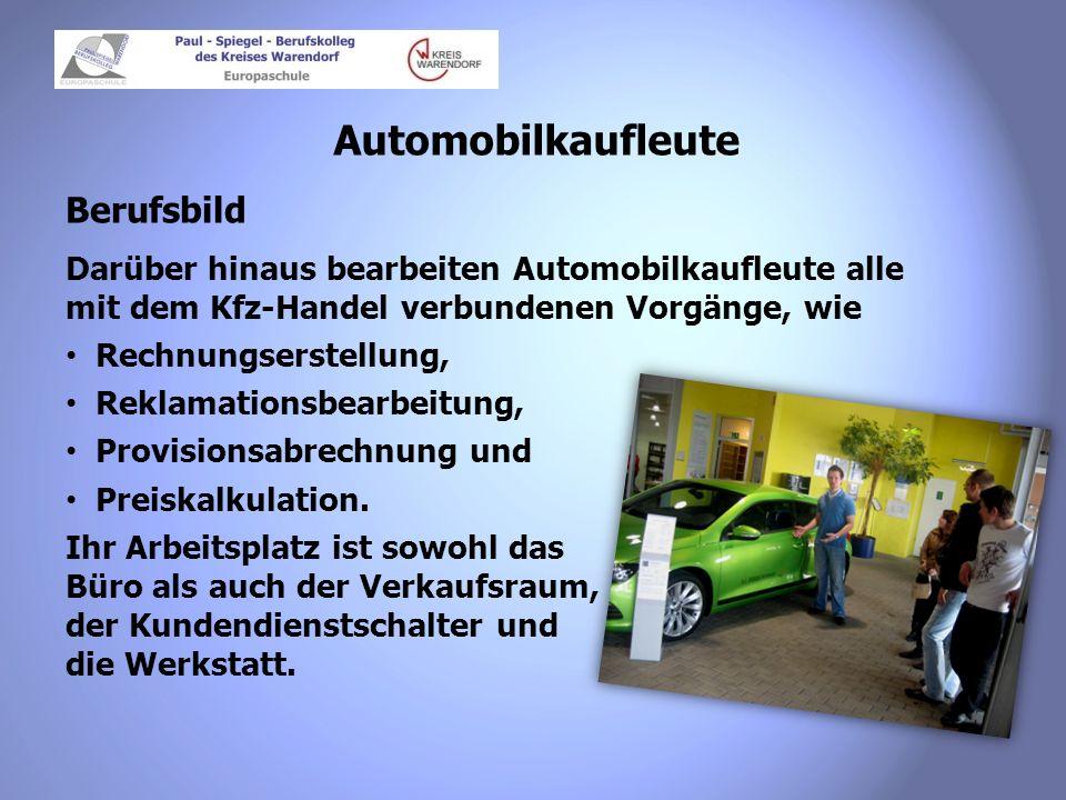 Automobilkaufleute Berufsbild