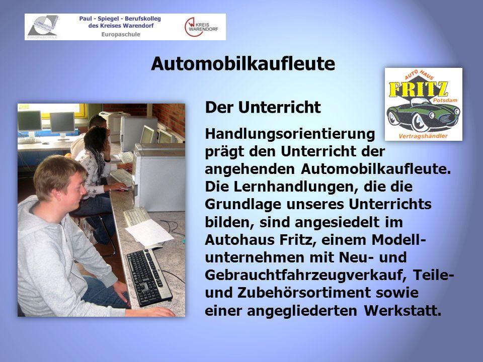 Automobilkaufleute Der Unterricht