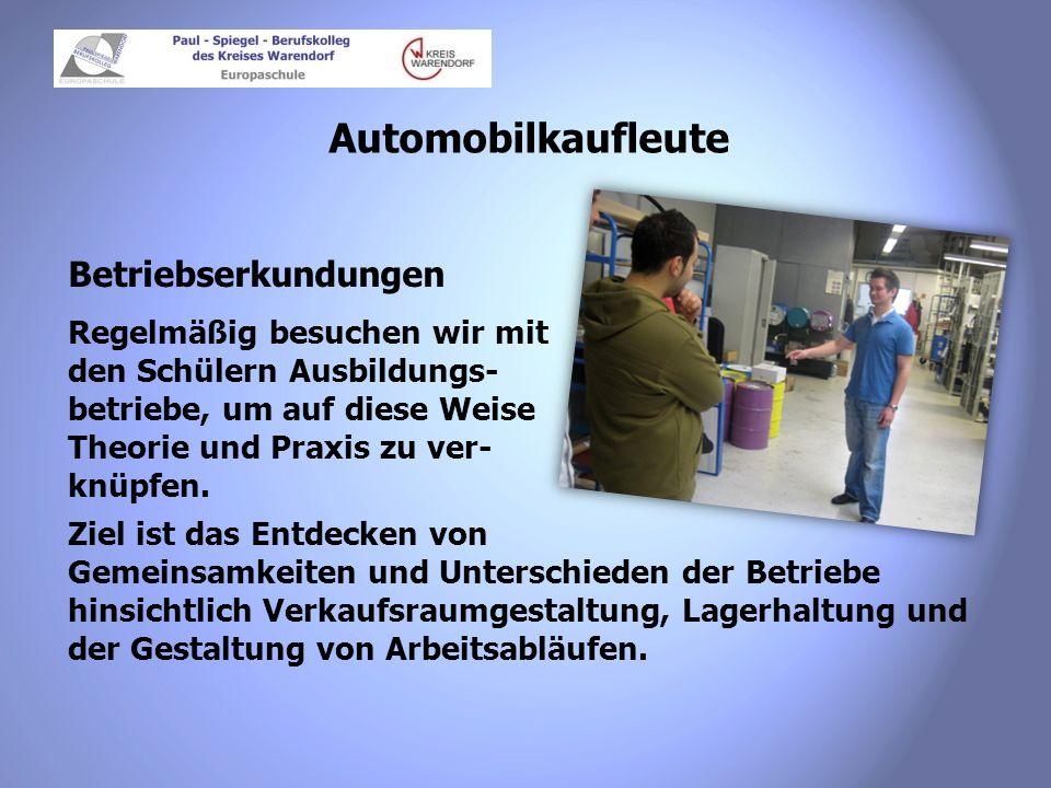 Automobilkaufleute Betriebserkundungen