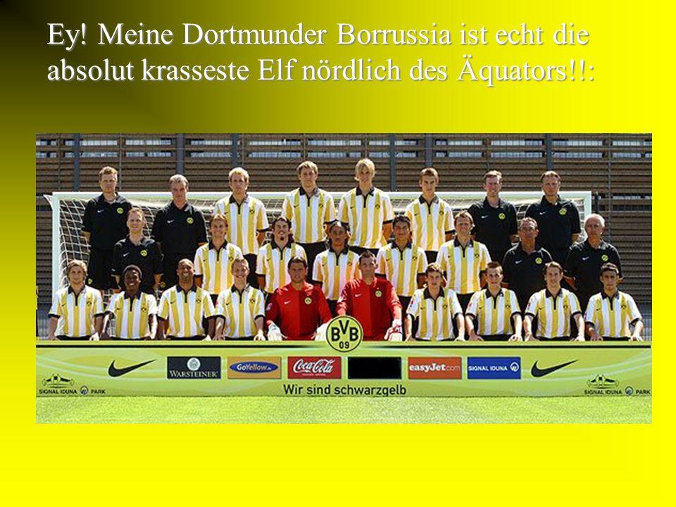 Ey! Meine Dortmunder Borrussia ist echt die absolut krasseste Elf nördlich des Äquators!!: