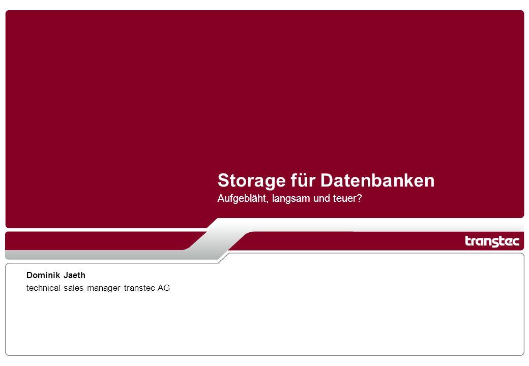 Storage für Datenbanken