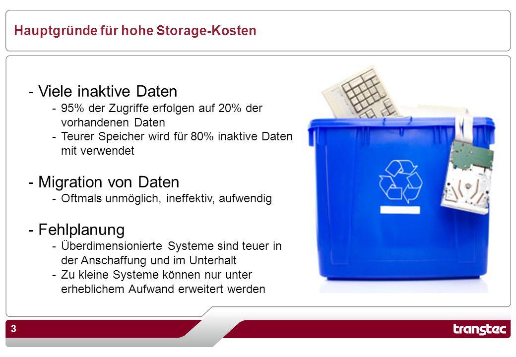 Hauptgründe für hohe Storage-Kosten
