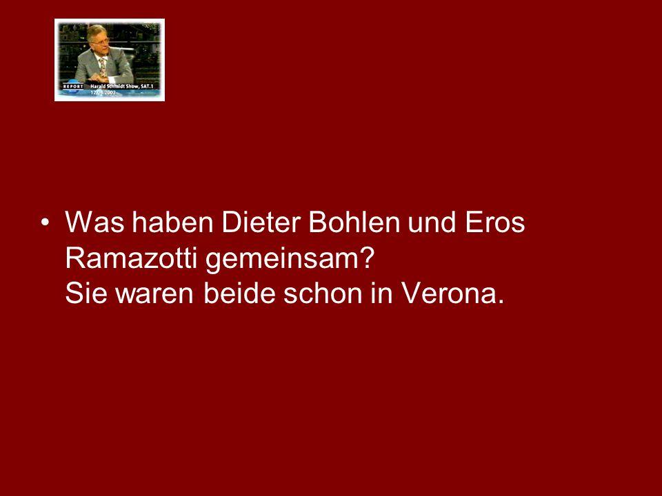 Was haben Dieter Bohlen und Eros Ramazotti gemeinsam