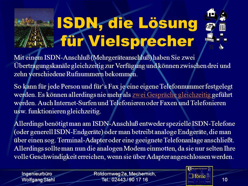 ISDN, die Lösung für Vielsprecher