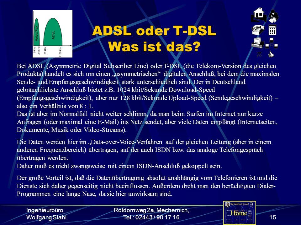 ADSL oder T-DSL Was ist das
