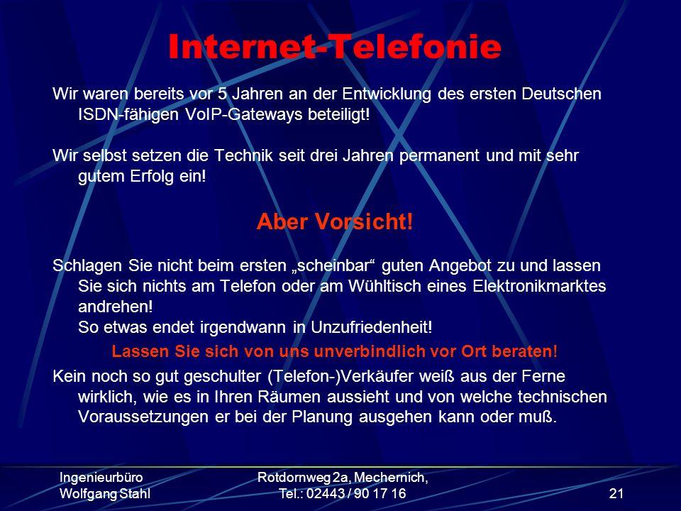 Internet-Telefonie Aber Vorsicht!