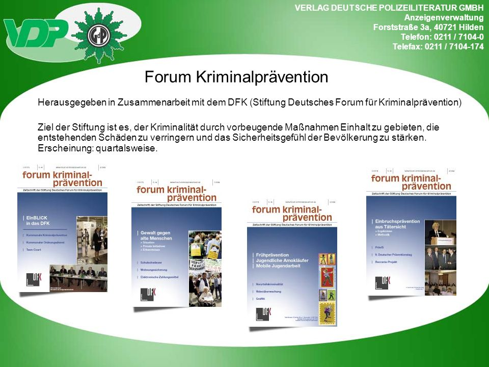 Forum Kriminalprävention