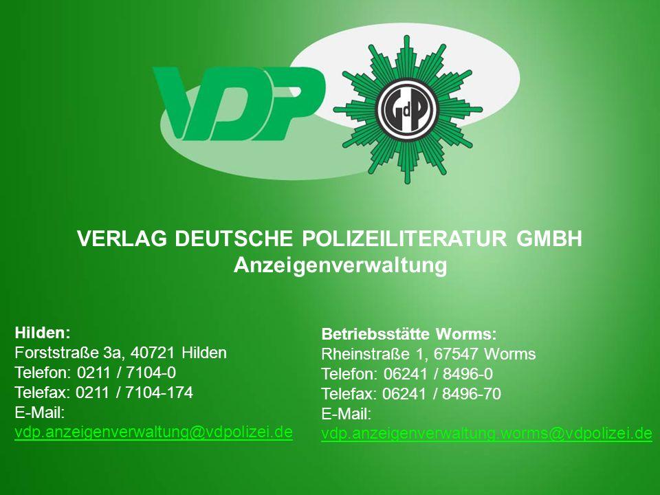VERLAG DEUTSCHE POLIZEILITERATUR GMBH Anzeigenverwaltung