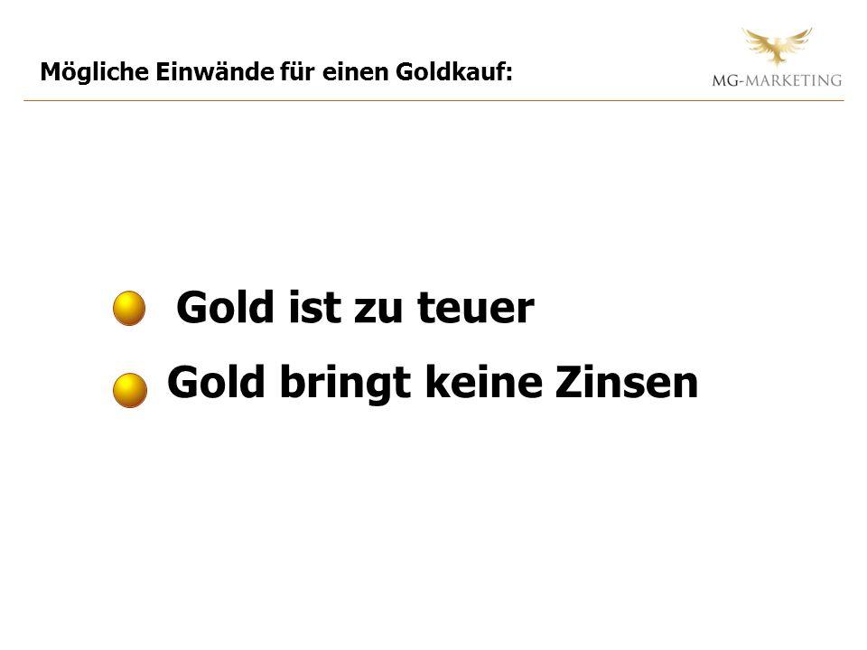 Gold bringt keine Zinsen