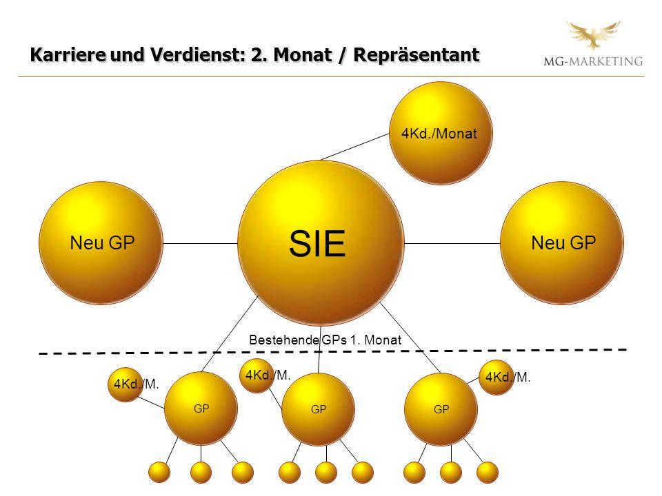 SIE Karriere und Verdienst: 2. Monat / Repräsentant Neu GP Neu GP