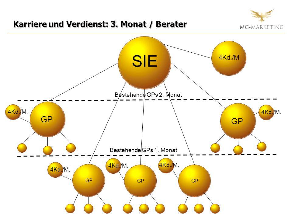 SIE Karriere und Verdienst: 3. Monat / Berater GP GP 4Kd./M
