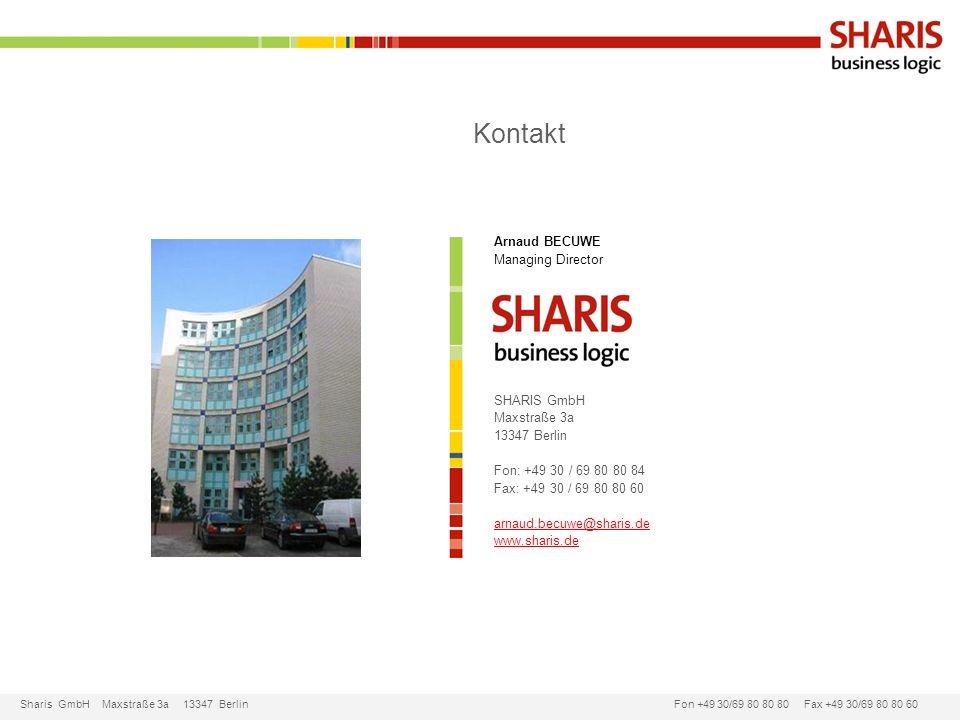 Kontakt Arnaud BECUWE Managing Director SHARIS GmbH Maxstraße 3a