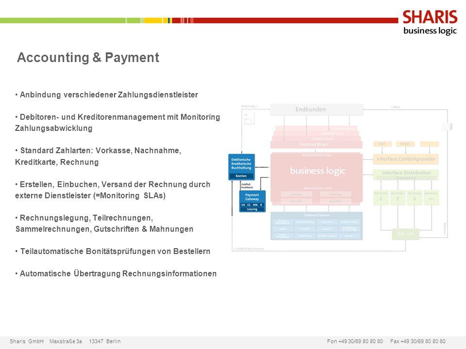 Accounting & Payment Anbindung verschiedener Zahlungsdienstleister