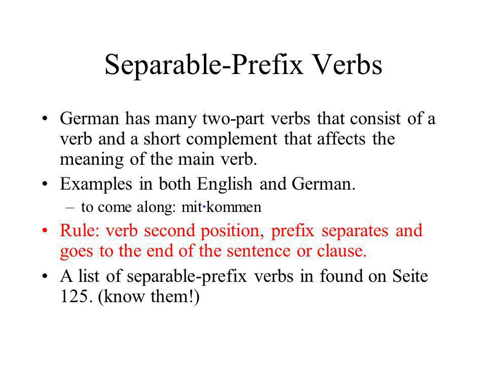 Separable-Prefix Verbs