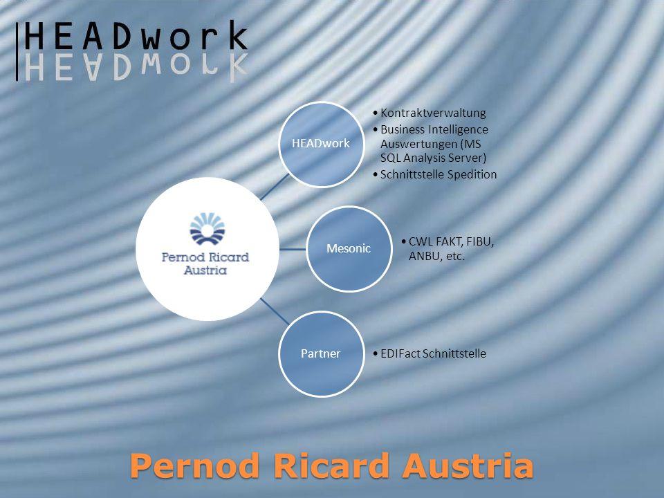 Pernod Ricard Austria HEADwork Kontraktverwaltung