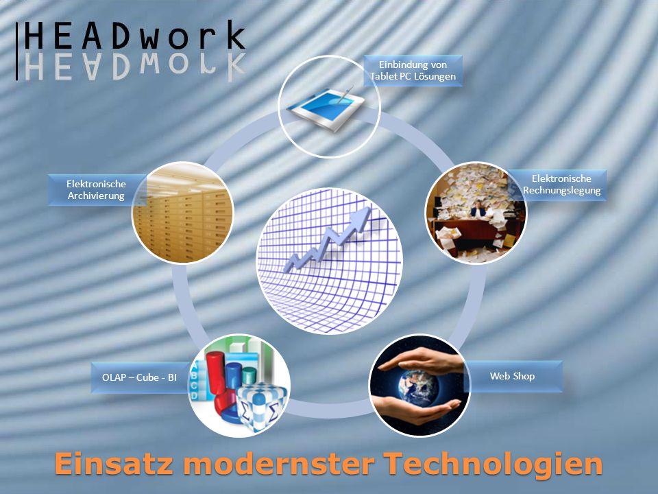 Einsatz modernster Technologien