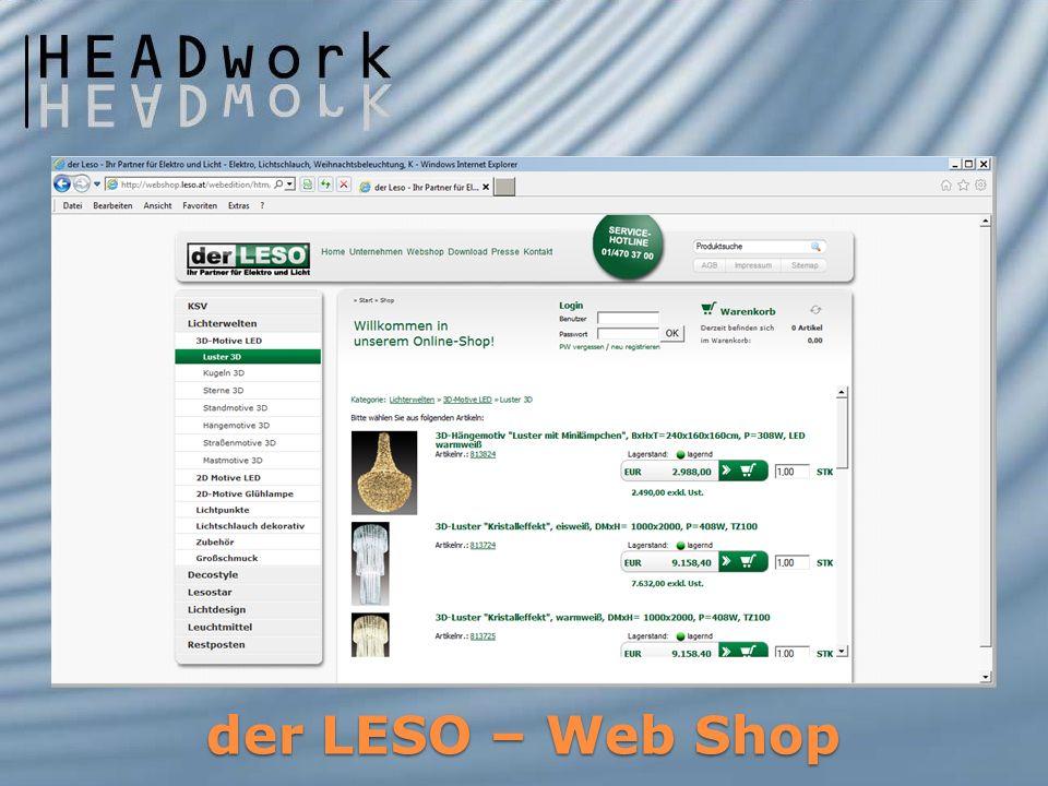 der LESO – Web Shop